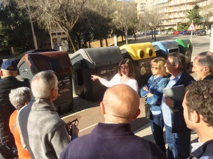 Colocan los nuevos contenedores de recogida de materia orgánica en Son Espanyolet y Son Dameto